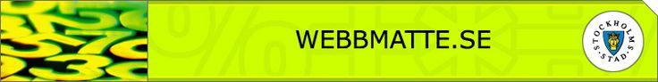webbmatte.se Matematik på flera språk från Stockholms stad.