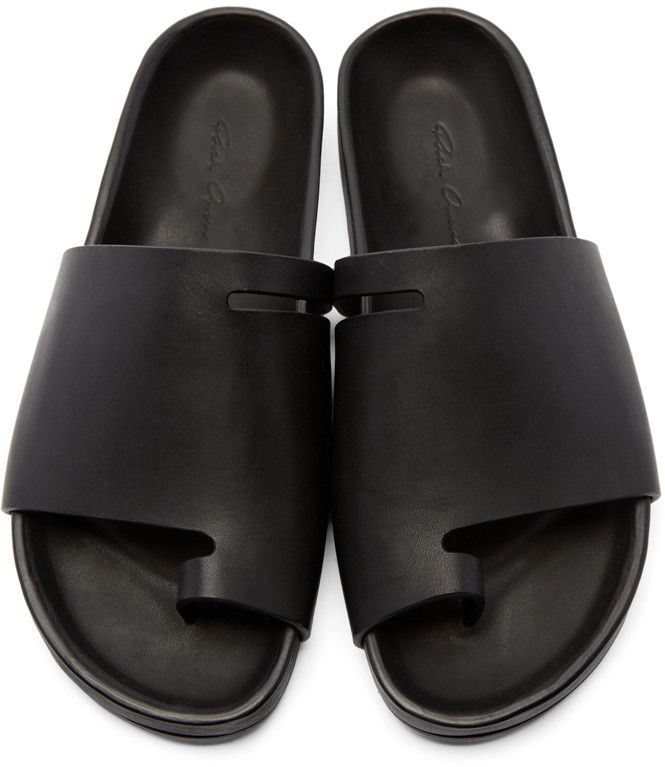 Rick Owens - Black Granola Sandals