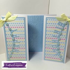 6x6 gatefold card made with Sara Signature Birthday Party Collection - designed by Debbie James #crafterscompanion
