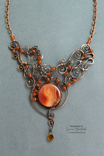 necklace with great wirework!