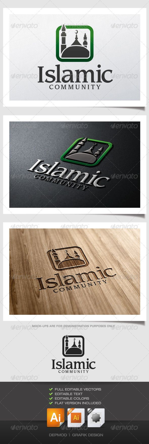 Islamic Community - Logo Design Template Vector #logotype Download it here: http://graphicriver.net/item/islamic-community-logo/5155363?s_rank=1385?ref=nexion