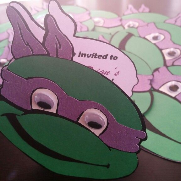 The 25 best ninja turtle invitations ideas on pinterest ninja ninja turtle invitations invites birthday party invitations ninja turtle birthday ninja solutioingenieria Images