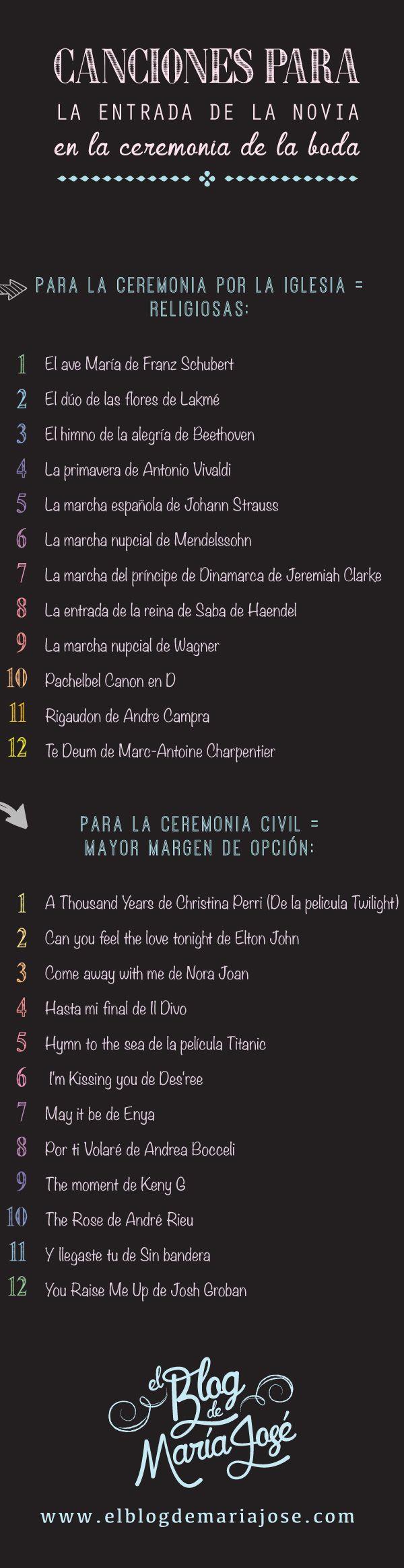 Canciones para la entrada de la novia en la ceremonia de la boda                                                                                                                                                     Más