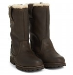 TIMBERLAND KIDS - Dark Brown Fleece Boots for boys