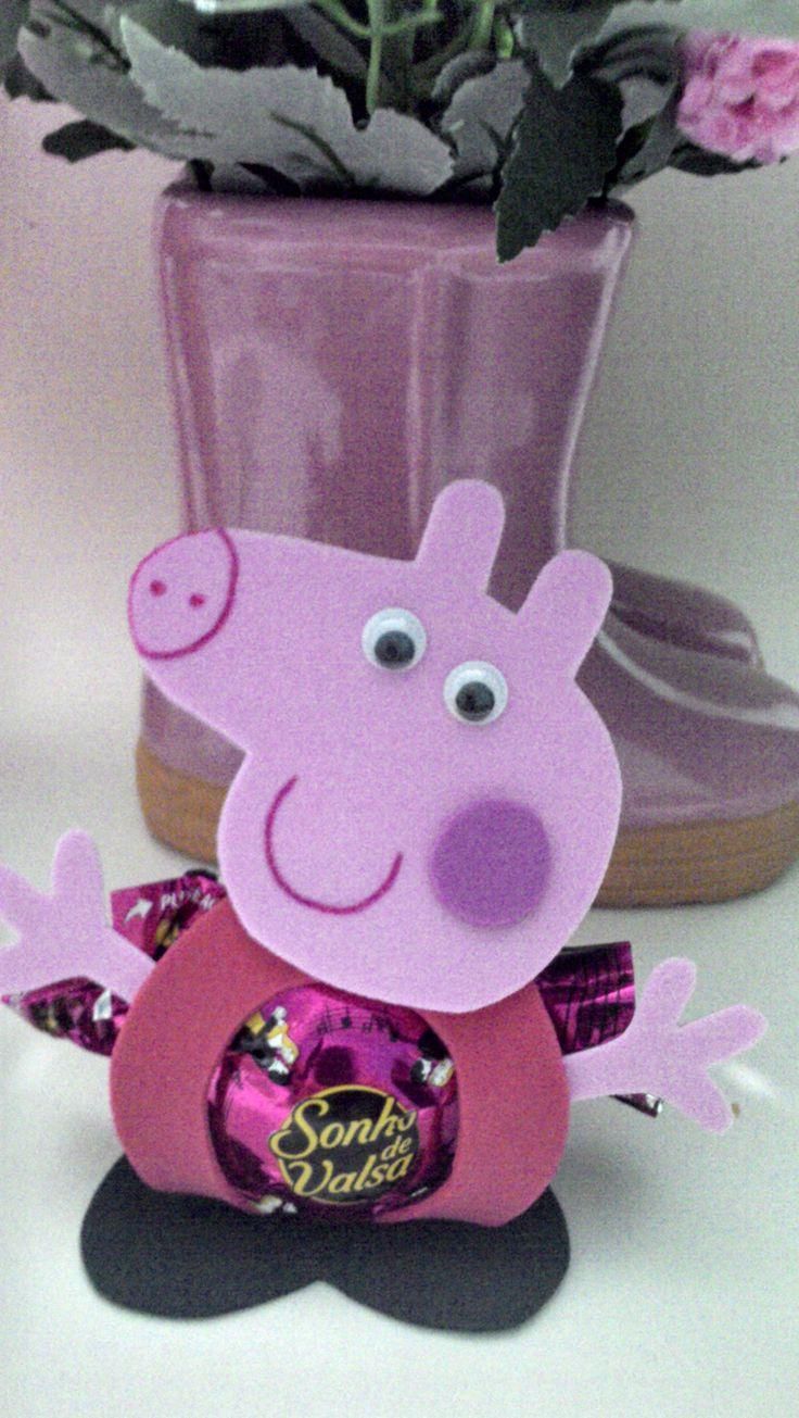 Porta bombom Peppa Pig http://www.elo7.com.br/meninasarteirasatelier