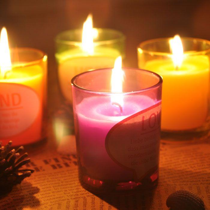 Decoracion хэллоуин творческие свечи, Свечи чашки лаванда ароматические свечи некурящие в бутылках подарочный комплект