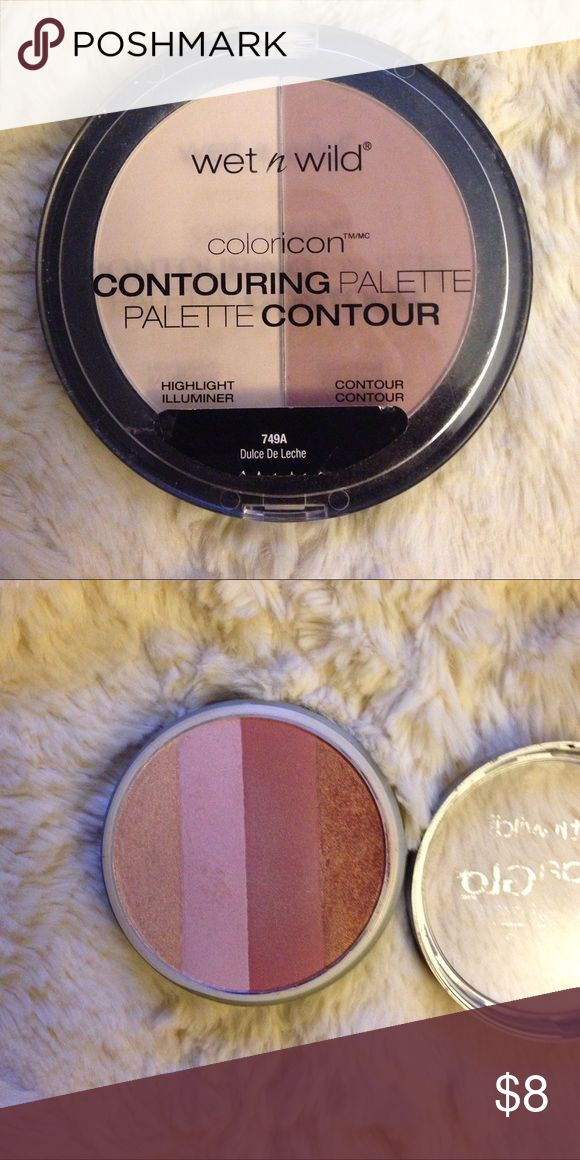 Wet N Wild bundle-Countour & Mega Glo The contour palette was swatched once, the mega glo was used 3x max. PRICE IS FIRM, as my items are priced at more than fair. I will ignore all offers, & questions that can be answered in the description. I've made many sales, and only post items that I would purchase myself. Rude or unnecessary comments will be blocked. Thank you and happy poshing 😊 wet n wild Makeup Face Powder