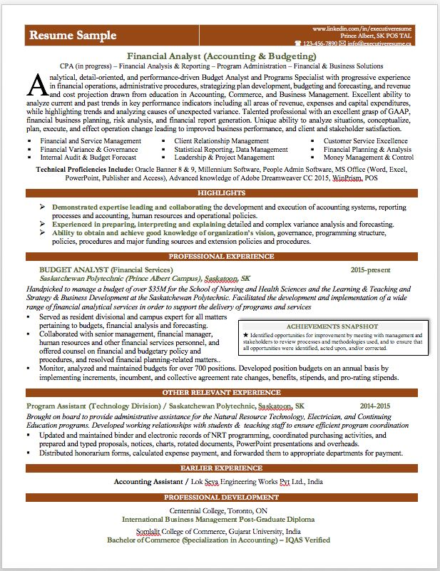 Professional Branded Resume Sample Financial Analyst Accounting Budgeting Resume Writing Services Financial Analyst Financial Analysis