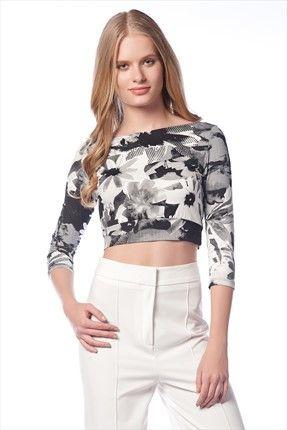 Sense · Hande Ataizi - Siyah Beyaz Bluz Blz13205 %61 indirimle 24,99TL ile Trendyol da