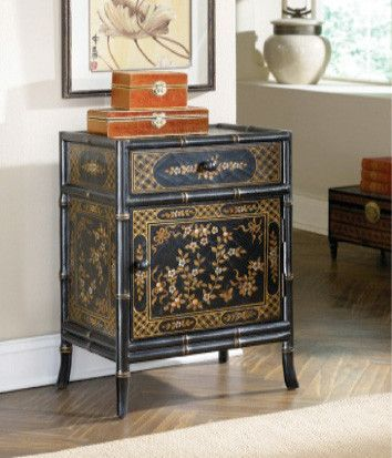 Asian Trellis Cabinet from Huffman Koos