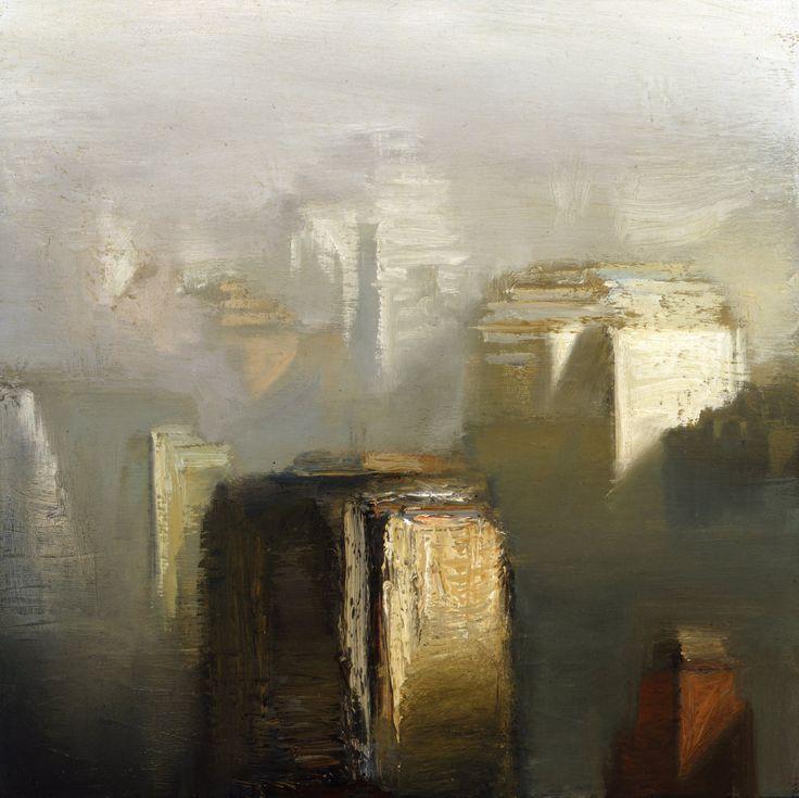 City Oil On Canvas,