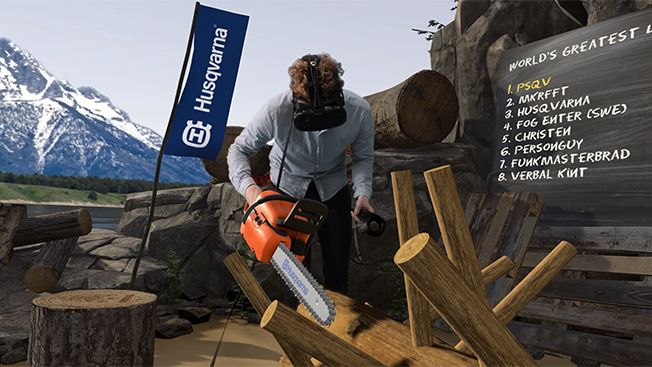 This Swedish Chainsaw Brand Just Launched a Virtual Reality Logging Game | Adweek
