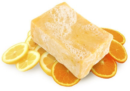LUSH Sexy Peel Soap...my FAV!!!  Citrusy goodness is the BEST...and has tiny pieces of dried peel that help exfoliate!