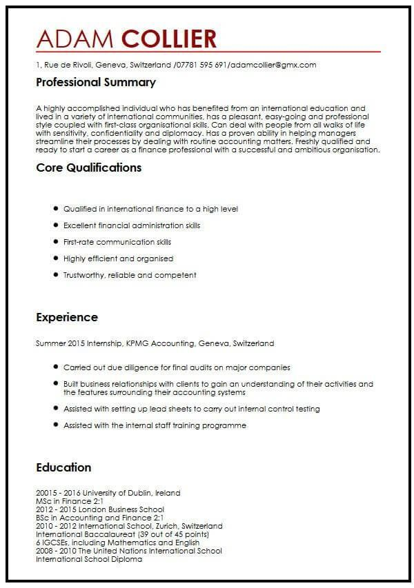 Cv Example For International Students Myperfectcv International Myperfectcv Students In 2020 Cv Examples Cv Template Resume Template Examples