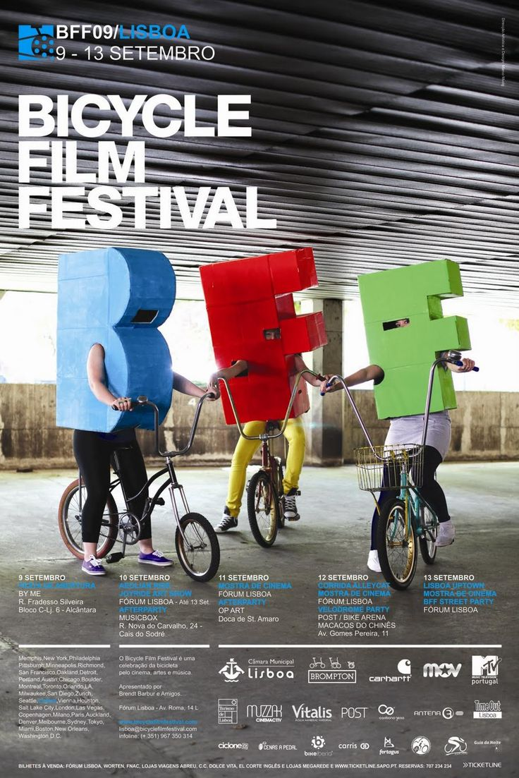 Affiche du Bicycle Film Festival 2009