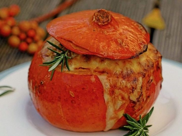 Gesundes Rezept: Gefüllten Hokkaido-Kürbis zubereiten / healthy recipe: prepare a filled pumpkin via DaWanda.com