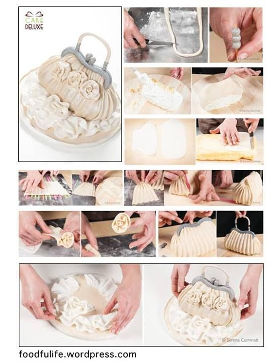 Purse, Handbag cake tutorial