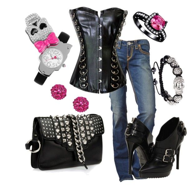 """Biker Babe"" by sandysue72 on Polyvore"