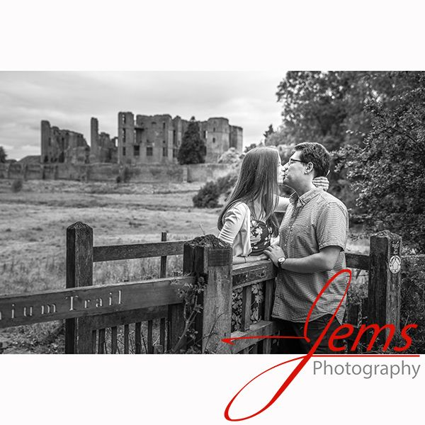The Kissing Gate. Engagement shoot at St Nicholas Park Kenilworth, Nr Warwick, Warwickshire. Pre-wedding / engagement photo shoots are always good for the happy couple to learn how to relax in front of the camera.