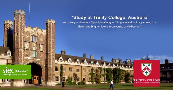Study at Trinity College, Australia and give your dreams a flight right after your 11th grade and build a pathway to a Better and Brighter future in University of Melbourne. Register Now and Meet Delegates from Trinity College- http://siecindia.com/study-abroad-trinity/ Call- +91 9779046382 #SIEC #StudyAbroad #StudyinAustralia #TrinityCollege #UniversityofMelbourne