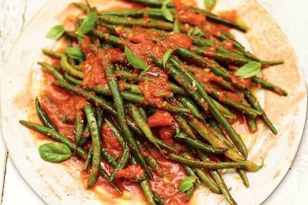 sperziebonen in tomatensaus