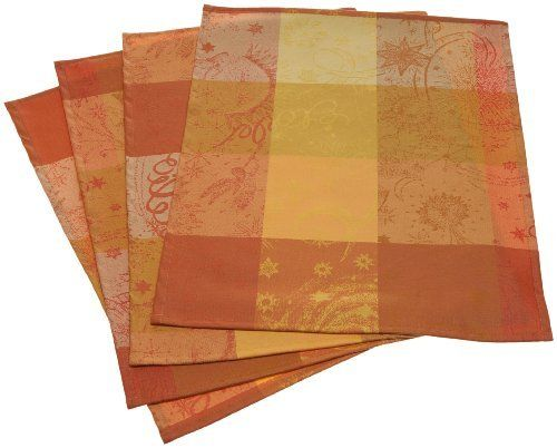 Garnier Thiebaut Mille Couleurs 100-Percent Cotton Coated 16-Inch by 20-Inch Placemats, Soleil, Set of 4 by Garnier-Thiebaut. $66.64. Easy-care, stain-resistant design; Garnier-Thiebaut collection also includes table runners, tablecloths, and napkins. Tightly woven jacquard with multi-hued stripes and whimsical starburst embellishment. 100-Percent coated cotton damask; wipes clean with a sponge; machine wash no more than twice per year. Measures 16 by 20 inches; pos...