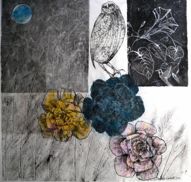 "Saatchi Art Artist Daniela Carletti; Painting, ""The night of the Elf Owl"" #art"