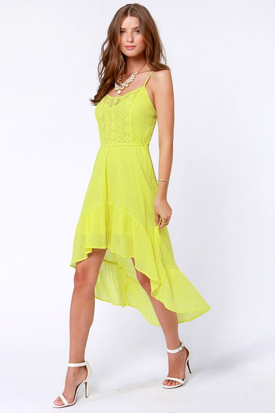 Element Eden Indio Dress - Neon Yellow Dress