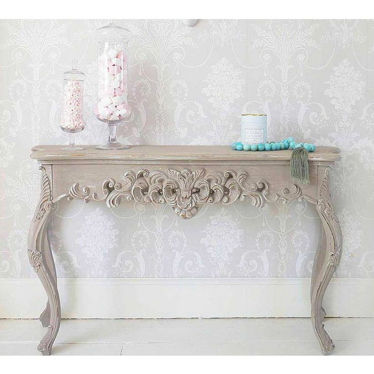 Grace Shabby Chic Console Table #Frenchbedroomcompany #Romance #Shabbychic