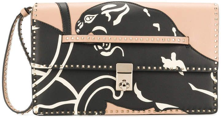 panther print clutch