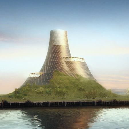 London designer Thomas Heatherwick has designed a biomass power station for the bank of the river Tees in the UK.