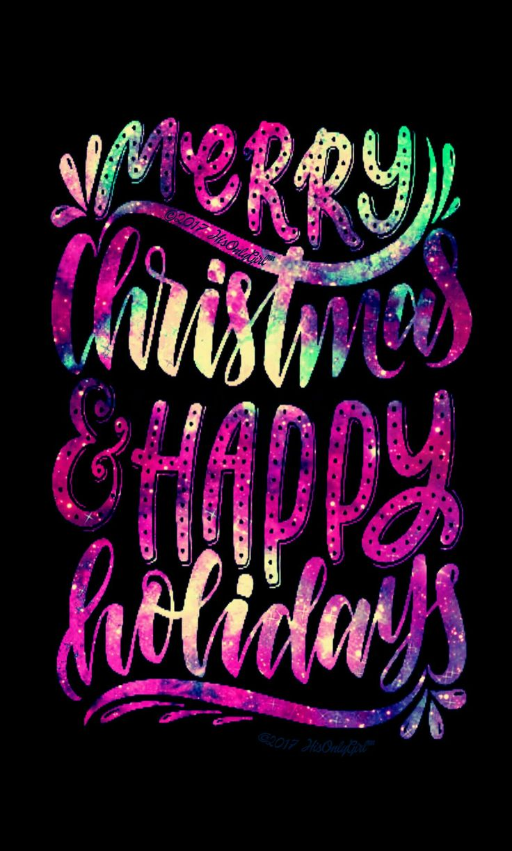 Happy Holidays galaxy wallpaper I created for the app CocoPPa.