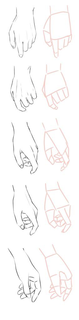 「簡単に」手を描く方法ではなく、「簡単な手」を描く方法です。 複雑な形をしていない、2人以上の絡…