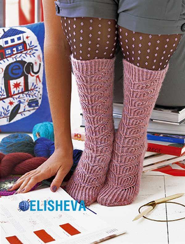 Женские носочки «Marlene» вязаные спицами | Блог elisheva.ru