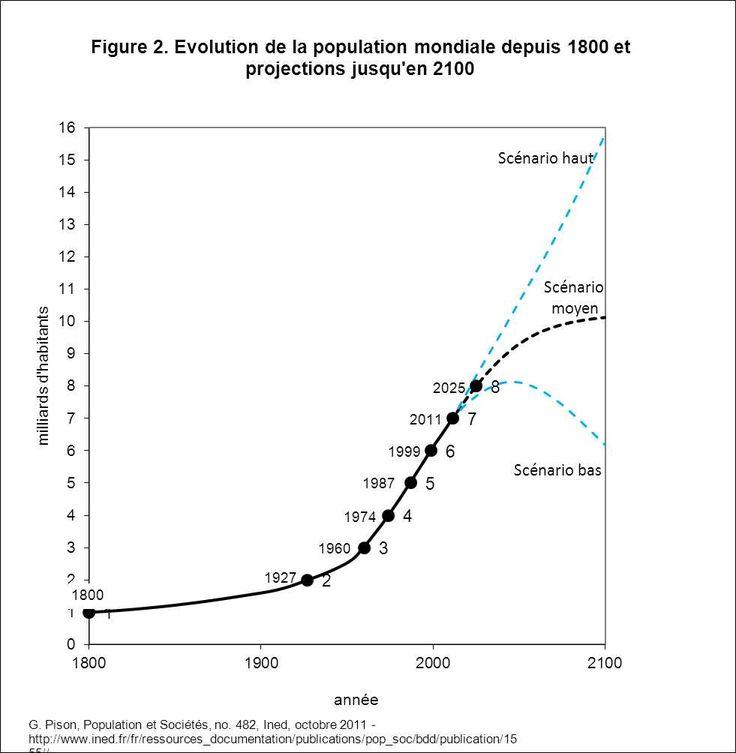 L'évolution accélère depuis 1800 car il y a un faible taux de mortalité et un niveau élevé de fécondité.
