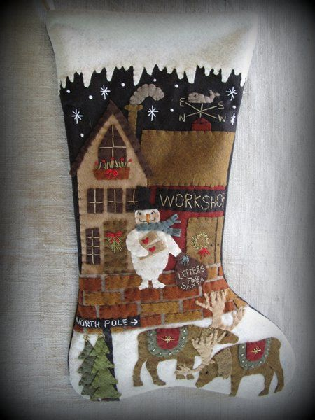 Letters to Santa Stocking EPATTERN by by cheswickcompany