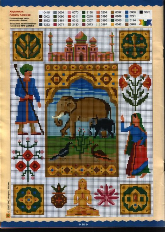 Miniature pattern / chart for cross stitch, crochet, knitting, knotting, beading, weaving, pixel art, micro macrame, and other crafting projects.