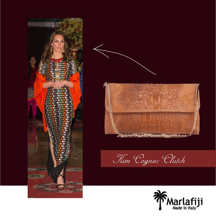 Loving this dress on Kate Middleton by Tory Burch... NO HANDBAG??? Perfect match with Kim Cognac clutch... On sale now so hurry up and catch it! http://marlafiji.com/…/kim-cognac-croc-embossed-italian-lea… www.marlafiji.com FREE SHIPPING WITHIN AUSTRALIA ‪#‎marlafiji‬ ‪#‎italianleatherbag‬ ‪#‎katemiddleton‬ ‪#‎kimcognac‬