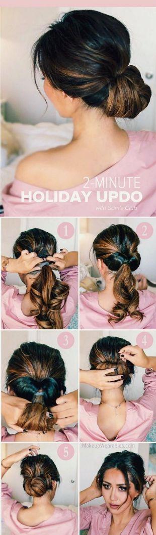 46 2 minuten updo hairstyle einfache frisuren-f r-die
