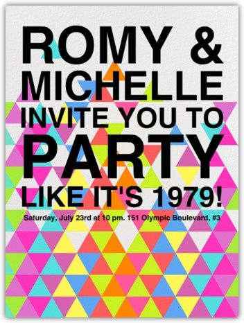 paperless post 80's party invitation via Pomp and Circumstance » Event Design & Wedding Planner in Houston, Tx