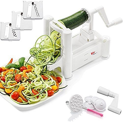 Spiralizer Tri-Blade Vegetable Slicer, Strongest-and-Heaviest Duty, Best Veggie Pasta & Spaghetti Maker