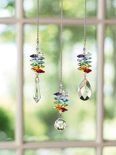These crystal rainbow makers will bring garden color to your inside world all year round! From our friends at The Gardener's Supply Company, http://emfl.us/-5Ed