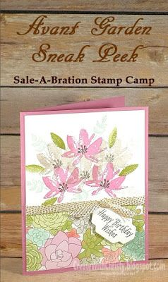Dimensions & instructions included in the blog post - Stampin' Up! Advant Garden handmade card - Create With Christy - Christy Fulk, Independent SU Demo