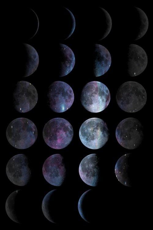 Phases of the moon for more like this follow: http://pinterest.com/jlaurennnnnn