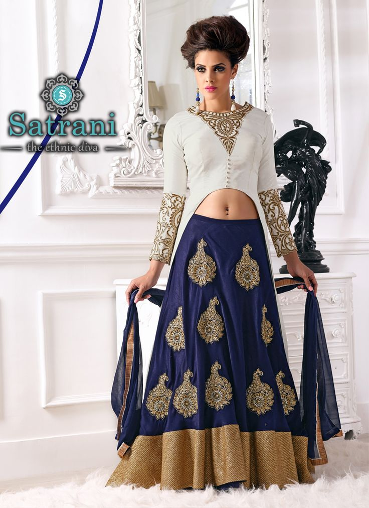 Stunning Anarkali Suit For Ethnic Collection(243D)  Please visit below link  http://www.satrani.com/salwar-suits&catalog=582  For more queries,  email id: inquiry@satrani.com Contact no.: 09737746888(whats app available)