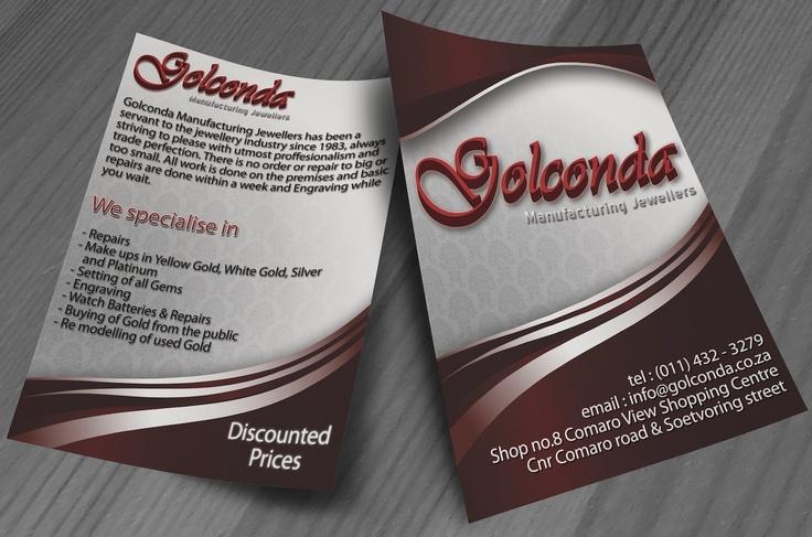 Golconda Flyer Design