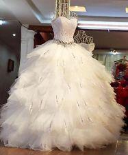 Plume blanche boule d'ivoire robe de cristal chérie robe de mariée robe de marié