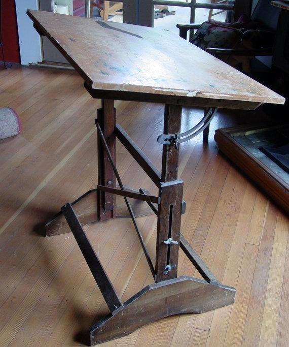 Industrial Anco Bilt Drafting Table Vintage by GoodlookinVintage, $165.00