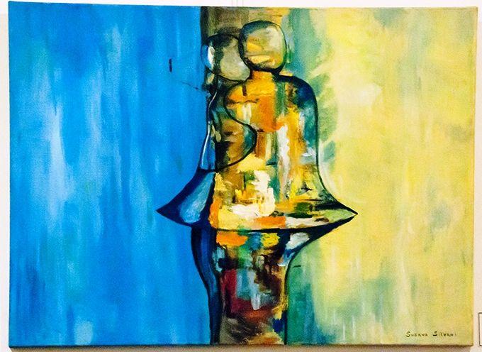 Encuentro - $ 4950.- Acrílico 72 x 63 cm Susana Silvani