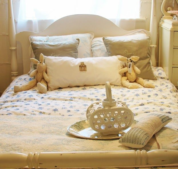 Pretty white bedroom.